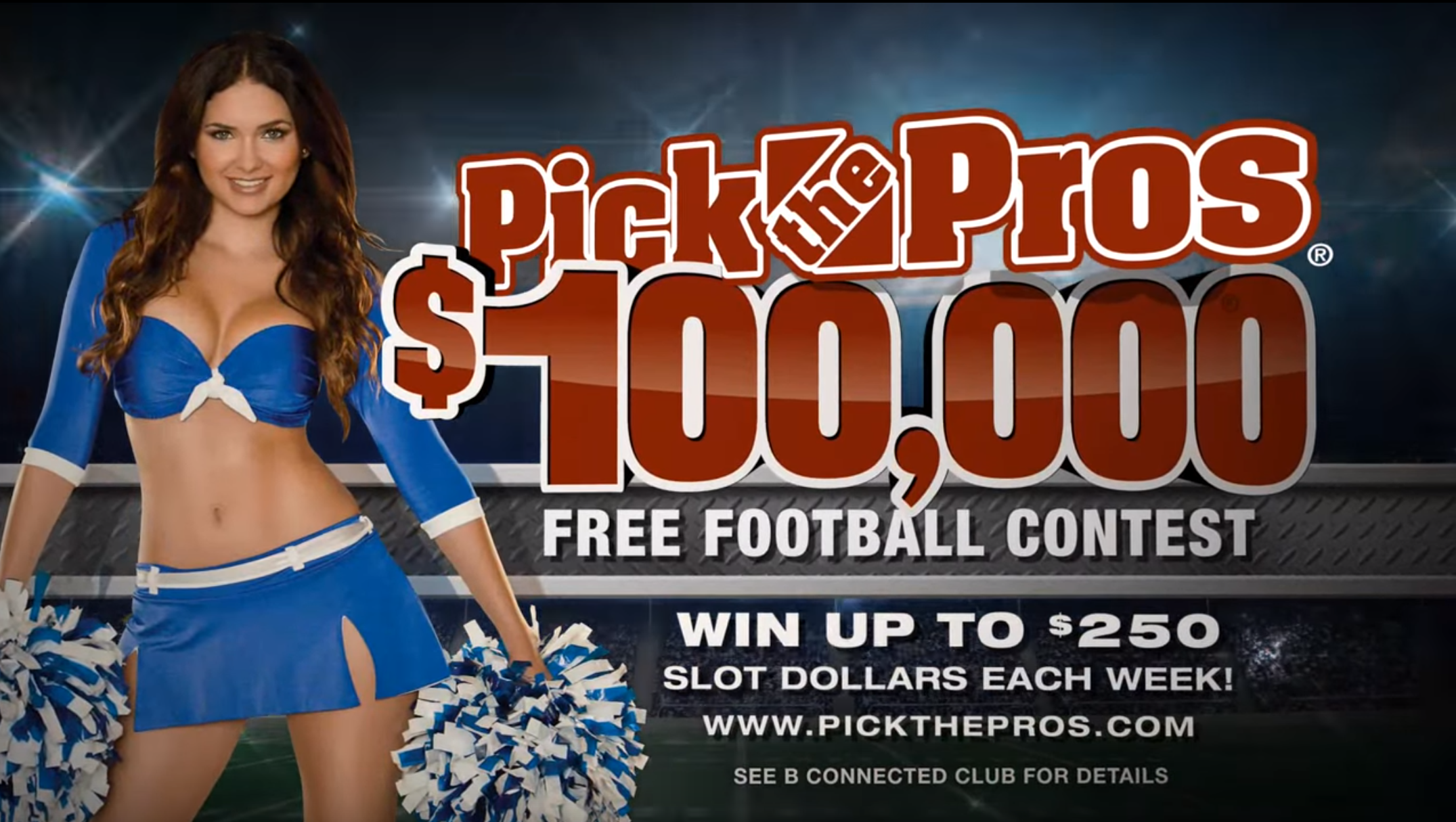 Motion graphics sample. A promotional piece made to advertise a corporate-wide contest at an Illinois gaming property.