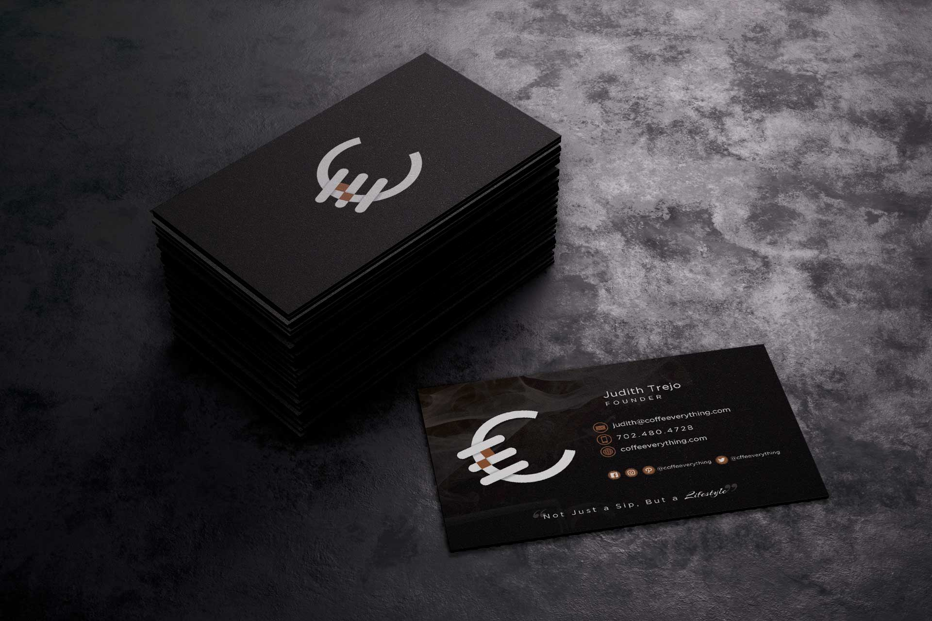 Coffee Everything Business Card Design
