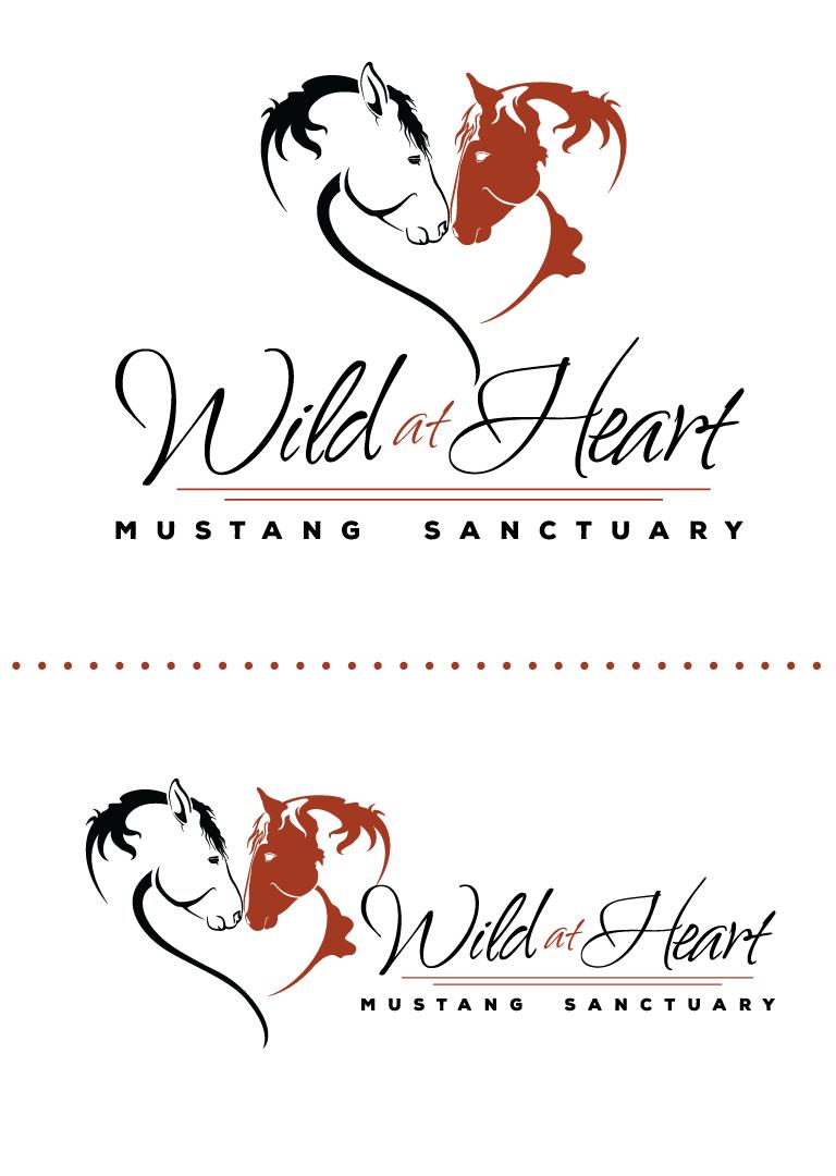 Wild at Heart Mustang Sanctuary Logo