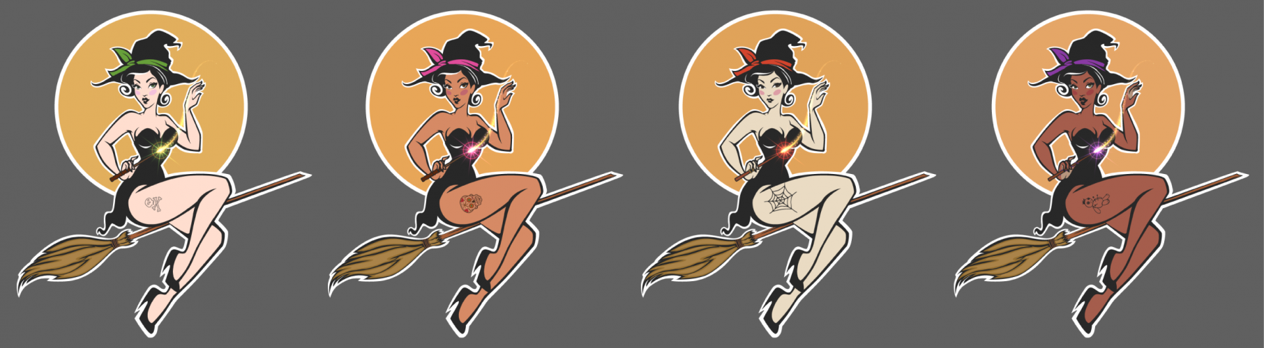 Halloween Witches Graphic Art