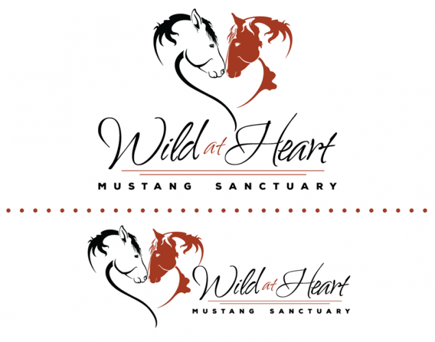 Wild At Heart Mustang Sanctuary Logo Design