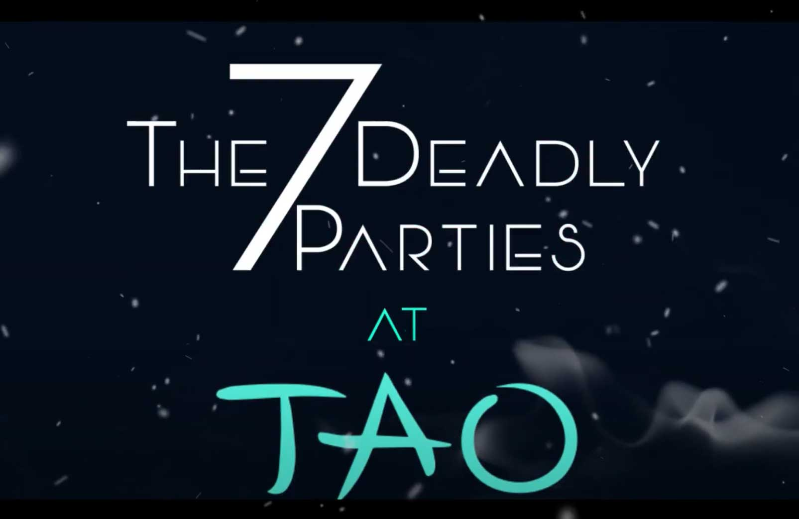 Seven Deadly Parties Promo Party Event Ad