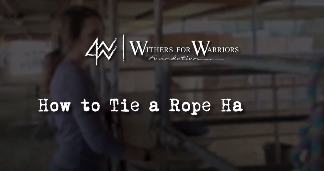 W4WF: How to Tie a Rope Halter
