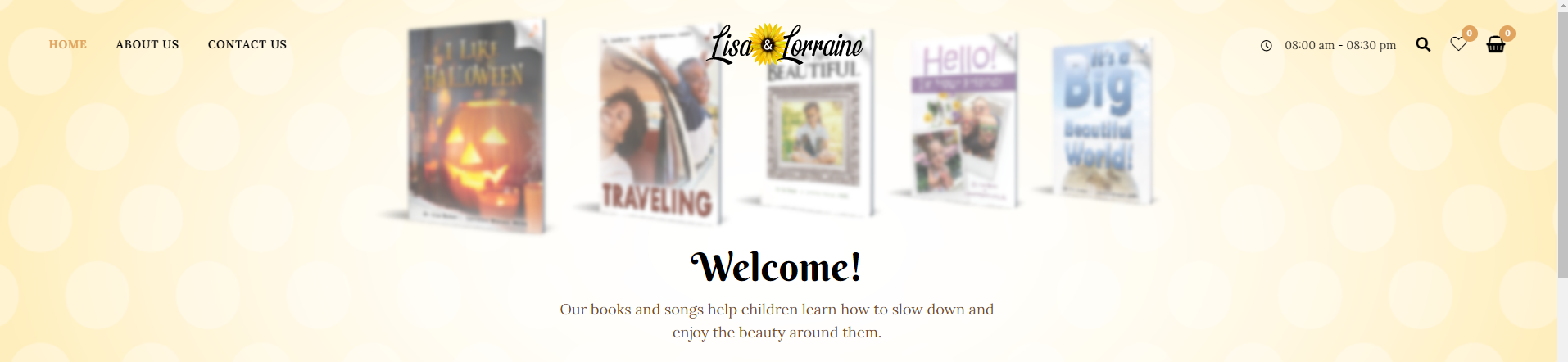 Lisa and Lorraine Music and Books Website Design